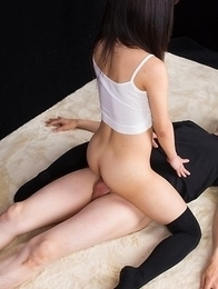 Luna Kobayashi rides a guy's cock without letting him penetrate her pussy/ass