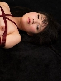 Bound babe in pantyhose Sena Sakura gets her legs/thighs fucked hard on cam