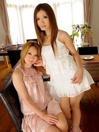 Hibiki Ohtsuki and Uta Kohaku pose