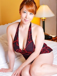 Yumi Kazama spoils big behind and big hooters with shower