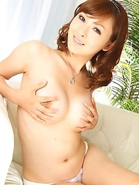 Fujii shows her big natural tits