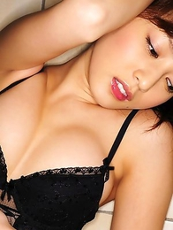 Natsuki Ikeda with big boobs in corset is simply appetizing