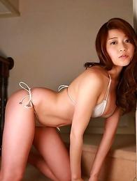 Ayumi Takahashi Asia with big tits looks amazing in bath suit