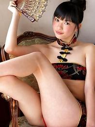 Tomoe Yamanaka shows hot behind under such short skirt