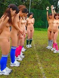 Horny Soccer babes enjoy sex toys