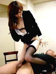 Hot slut Yui Igawa in a threesome