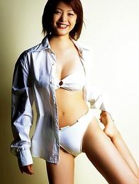 Mayuko Iwasa Asian shows big boobs after enjoying bike riding