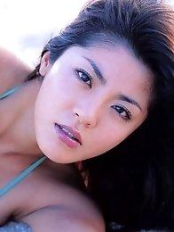 Harumi Nemoto outdoors posing outdoors her perfect big tits