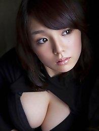 Busty asian Ai Shinozaki posing her sexy big breasts