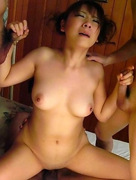Momo Aizawa wildest group sex action